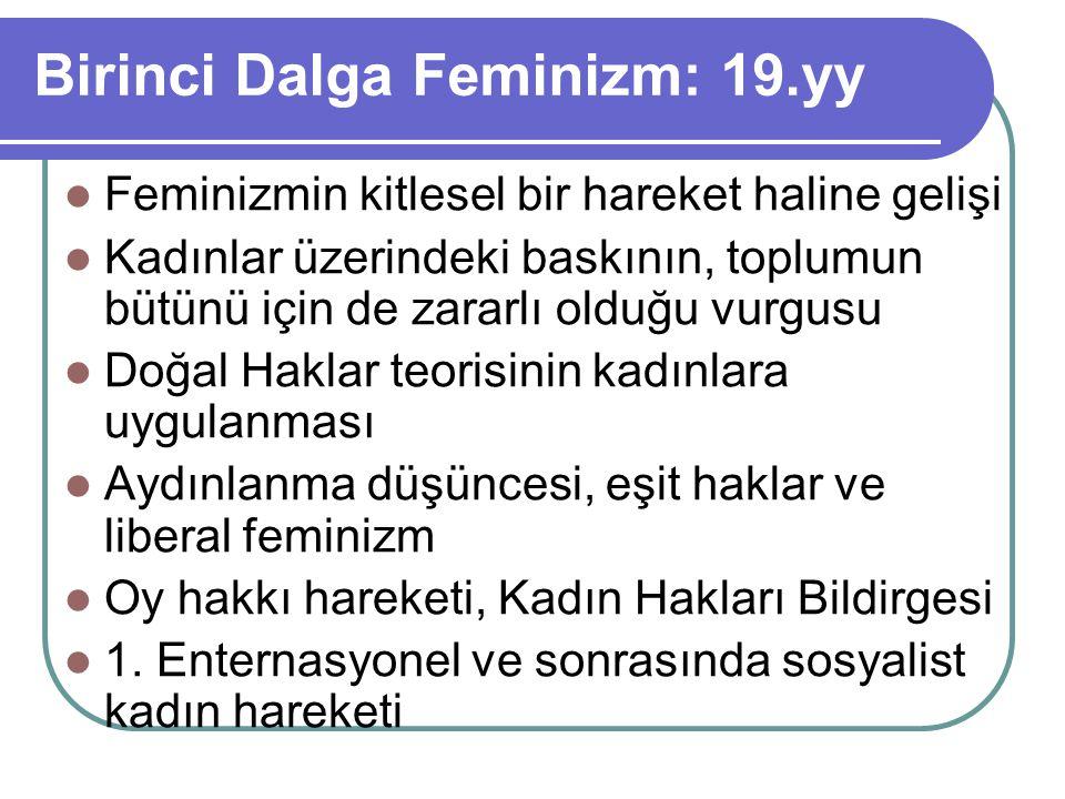 Birinci Dalga Feminizm: 19.yy