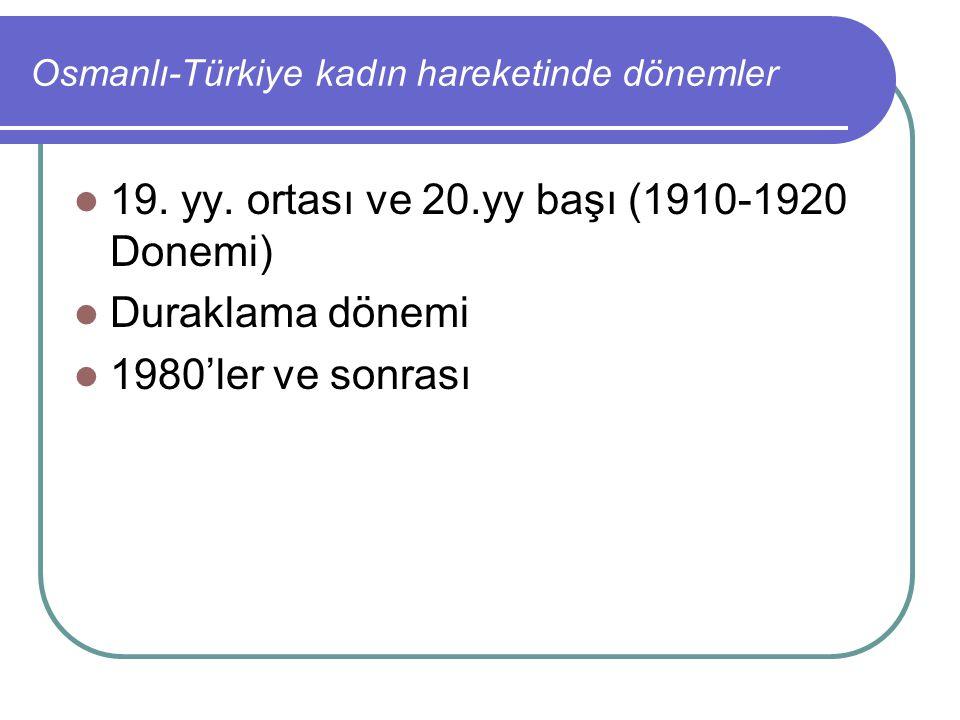 Osmanlı-Türkiye kadın hareketinde dönemler