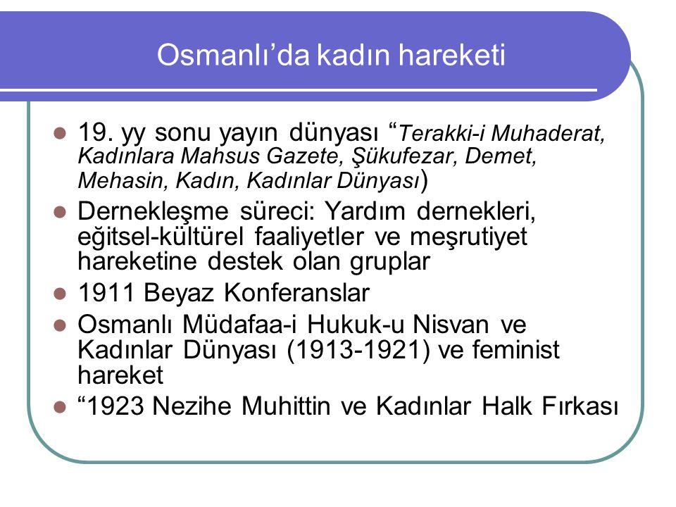 Osmanlı'da kadın hareketi