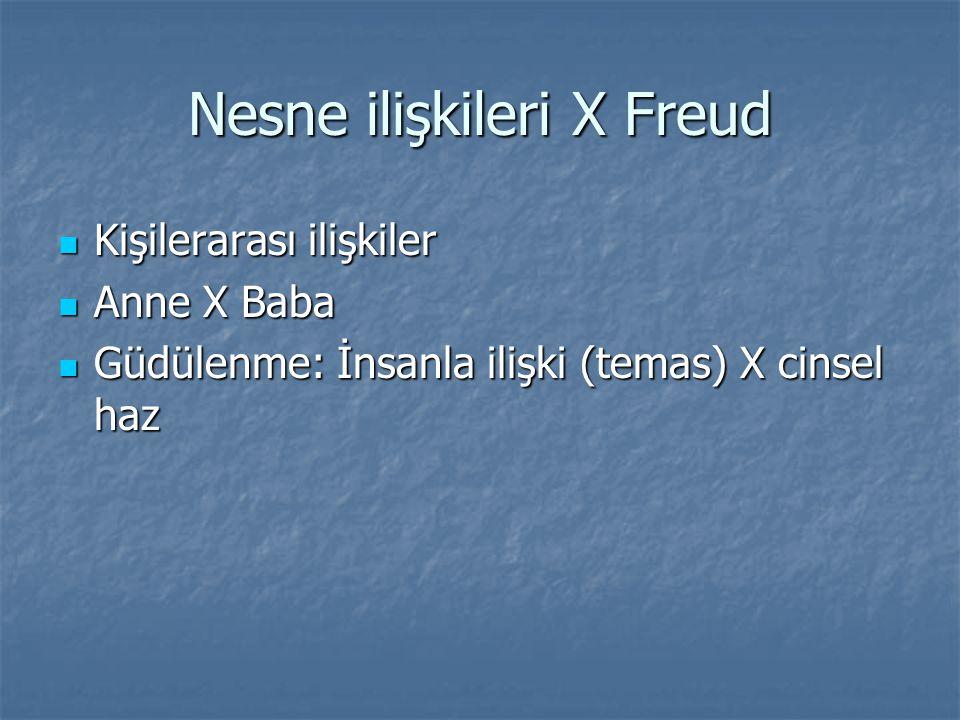Nesne ilişkileri X Freud