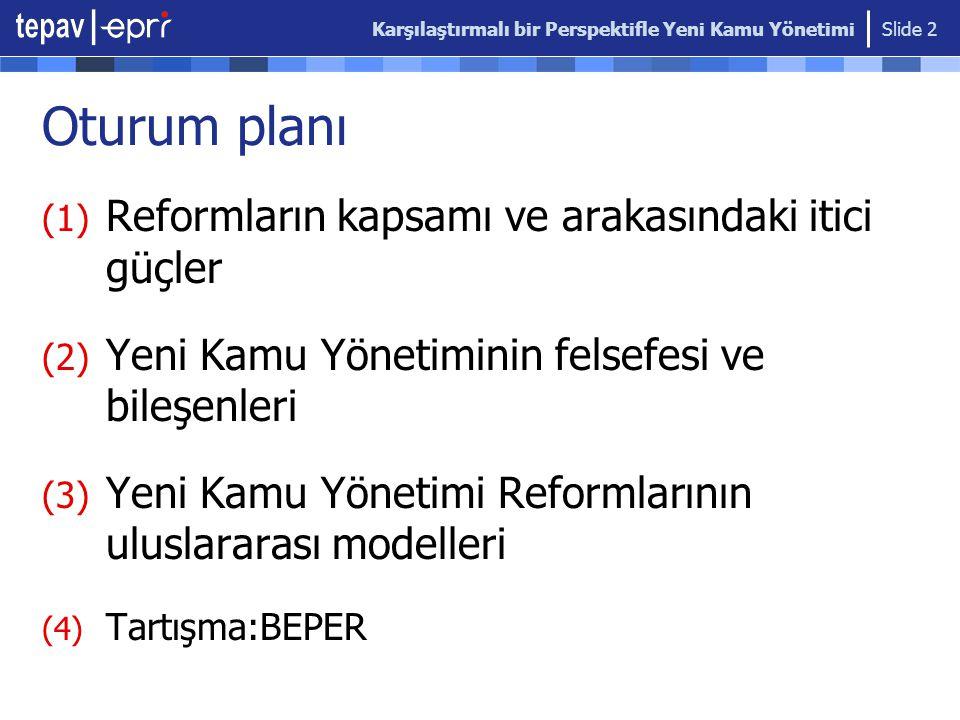 Oturum planı Reformların kapsamı ve arakasındaki itici güçler