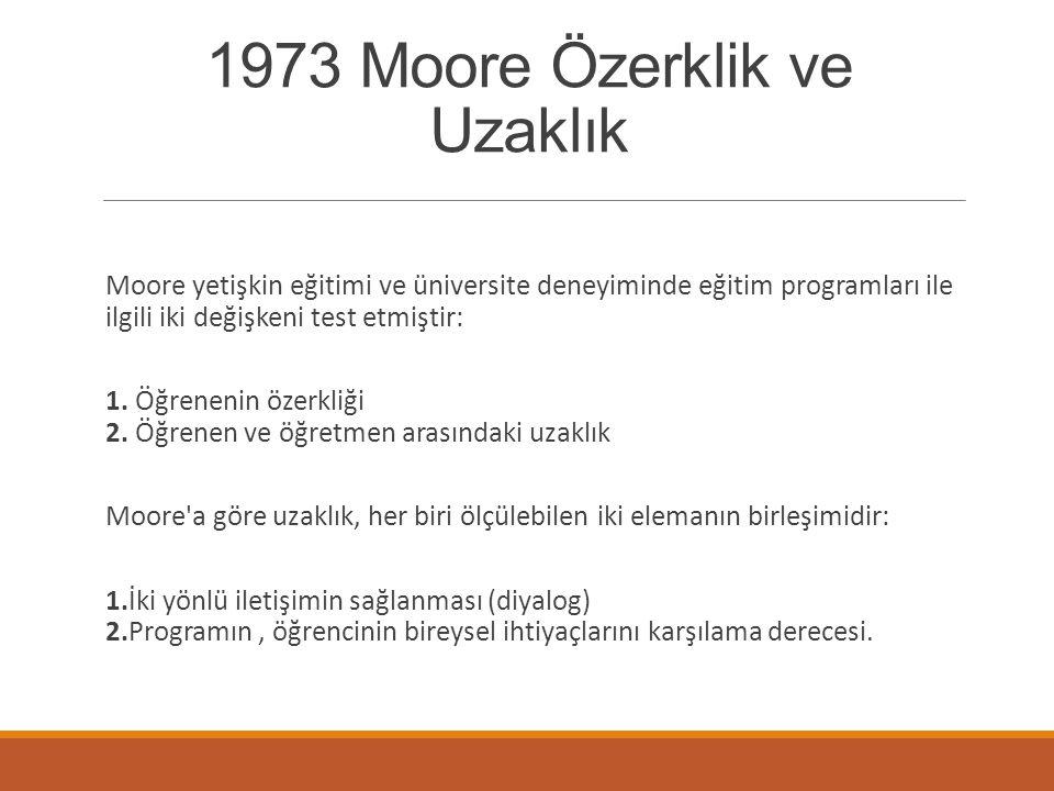 1973 Moore Özerklik ve Uzaklık