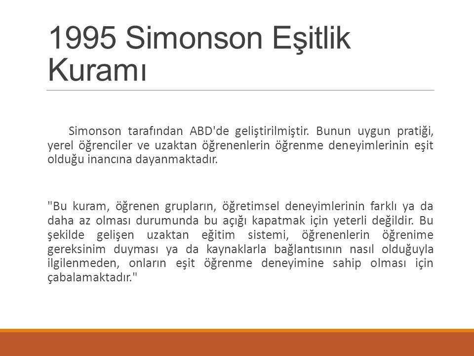 1995 Simonson Eşitlik Kuramı