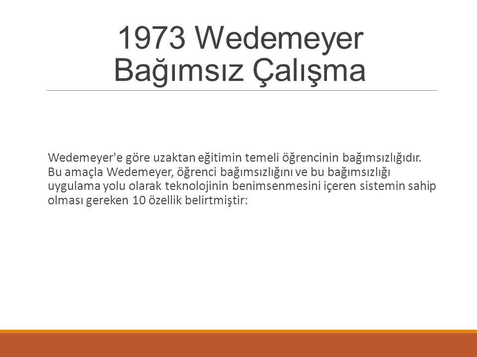 1973 Wedemeyer Bağımsız Çalışma