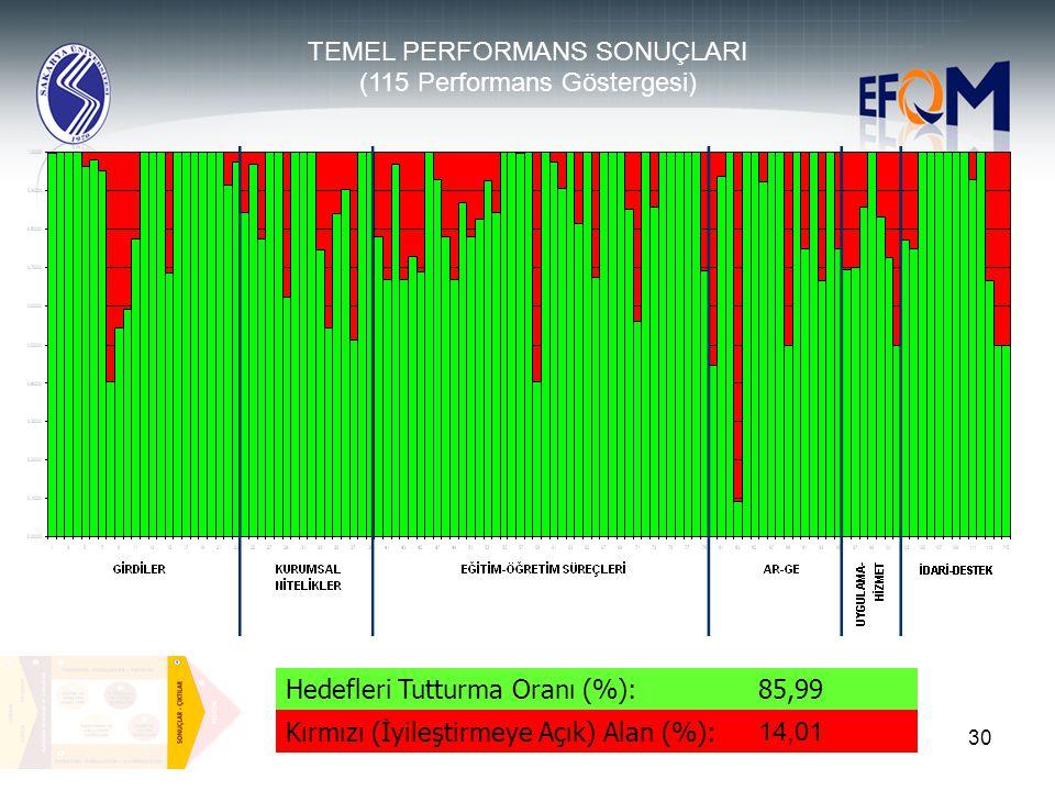 TEMEL PERFORMANS SONUÇLARI (115 Performans Göstergesi)