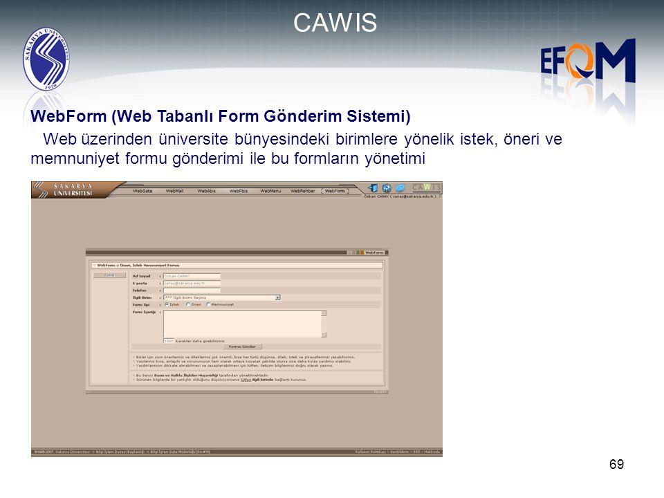CAWIS WebForm (Web Tabanlı Form Gönderim Sistemi)