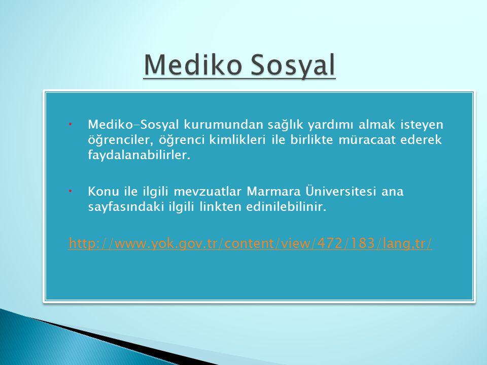 Mediko Sosyal http://www.yok.gov.tr/content/view/472/183/lang,tr/