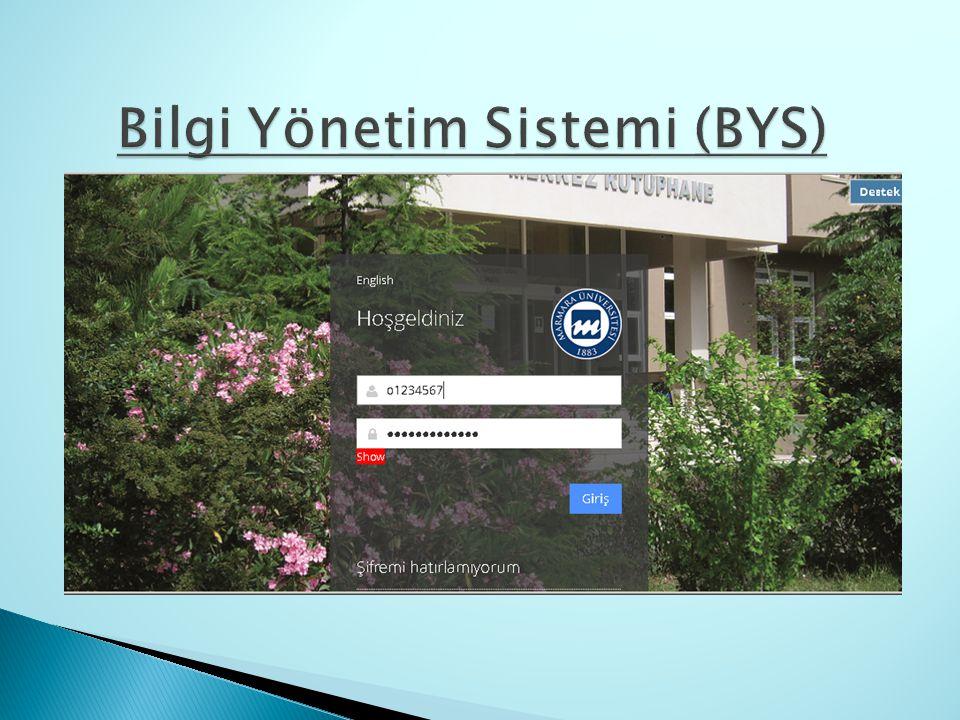 Bilgi Yönetim Sistemi (BYS)