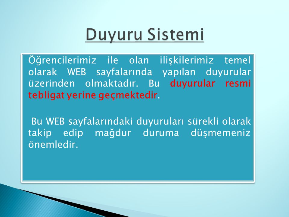 Duyuru Sistemi