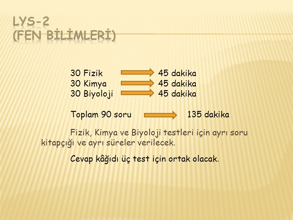 LYS-2 (FEN BİLİMLERİ)