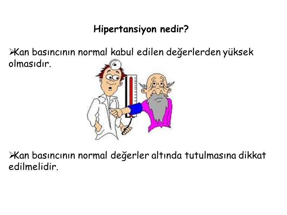 Hipertansiyon nedir Kan basıncının normal kabul edilen değerlerden yüksek olmasıdır.