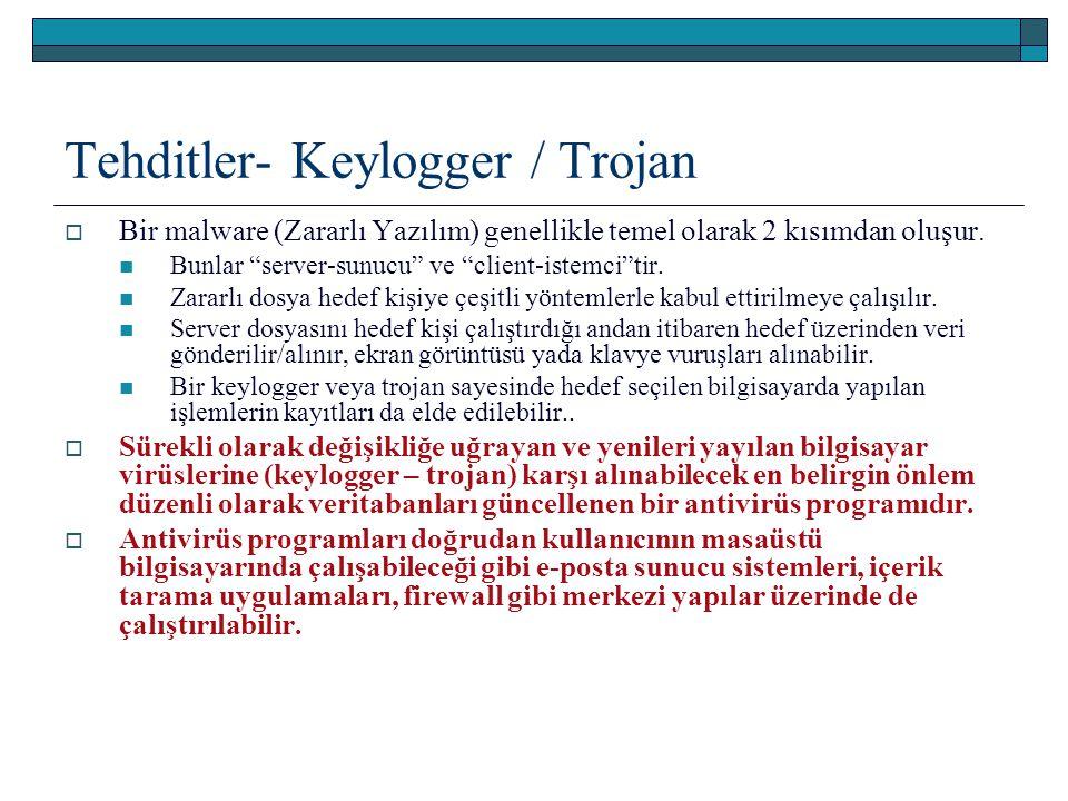 Tehditler- Keylogger / Trojan
