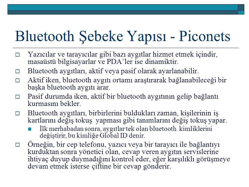 Bluetooth Şebeke Yapısı - Piconets