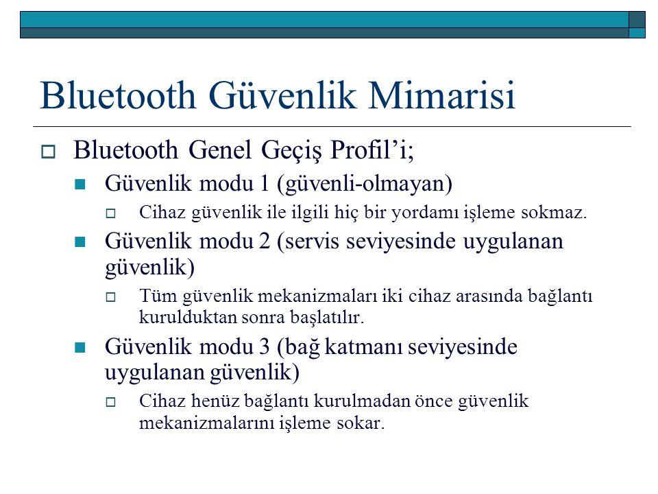 Bluetooth Güvenlik Mimarisi