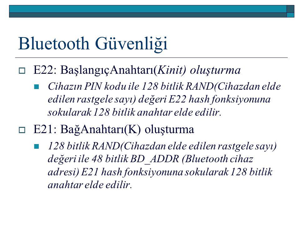 Bluetooth Güvenliği E22: BaşlangıçAnahtarı(Kinit) oluşturma