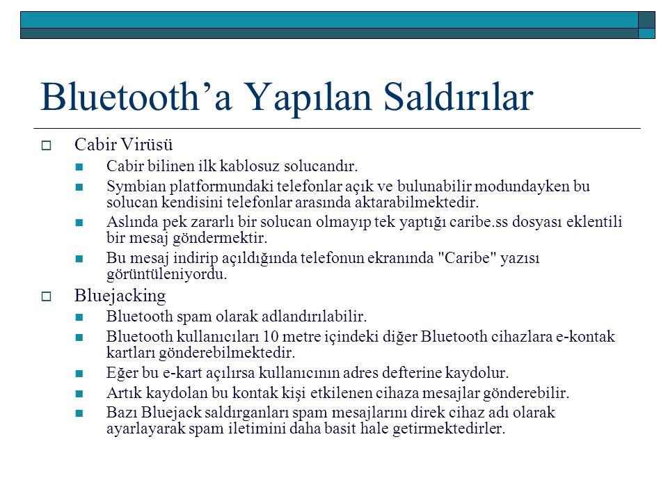 Bluetooth'a Yapılan Saldırılar