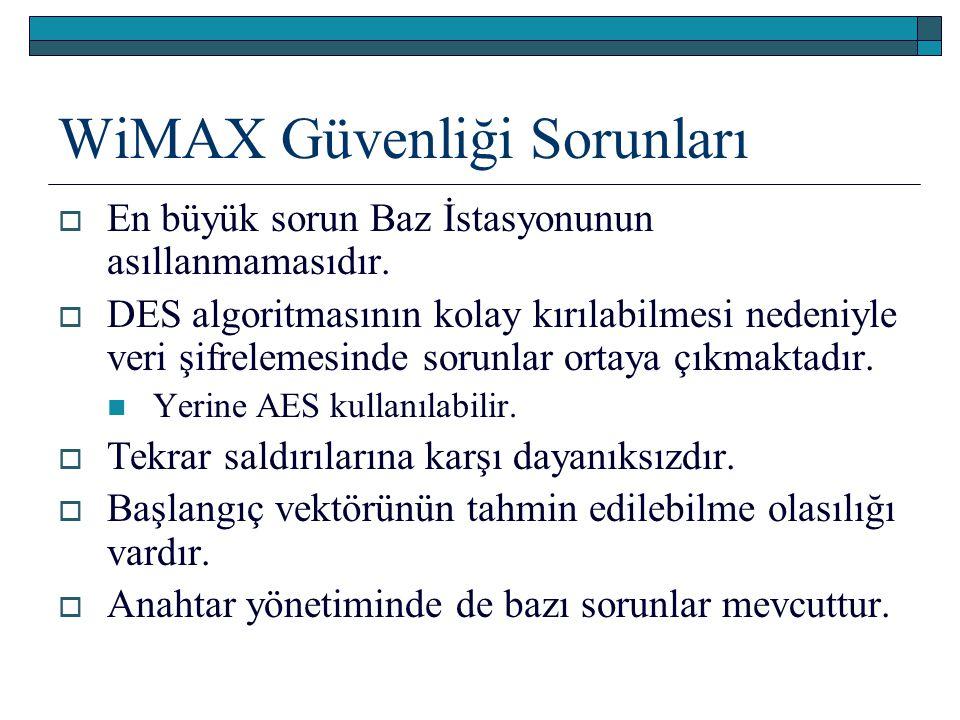 WiMAX Güvenliği Sorunları
