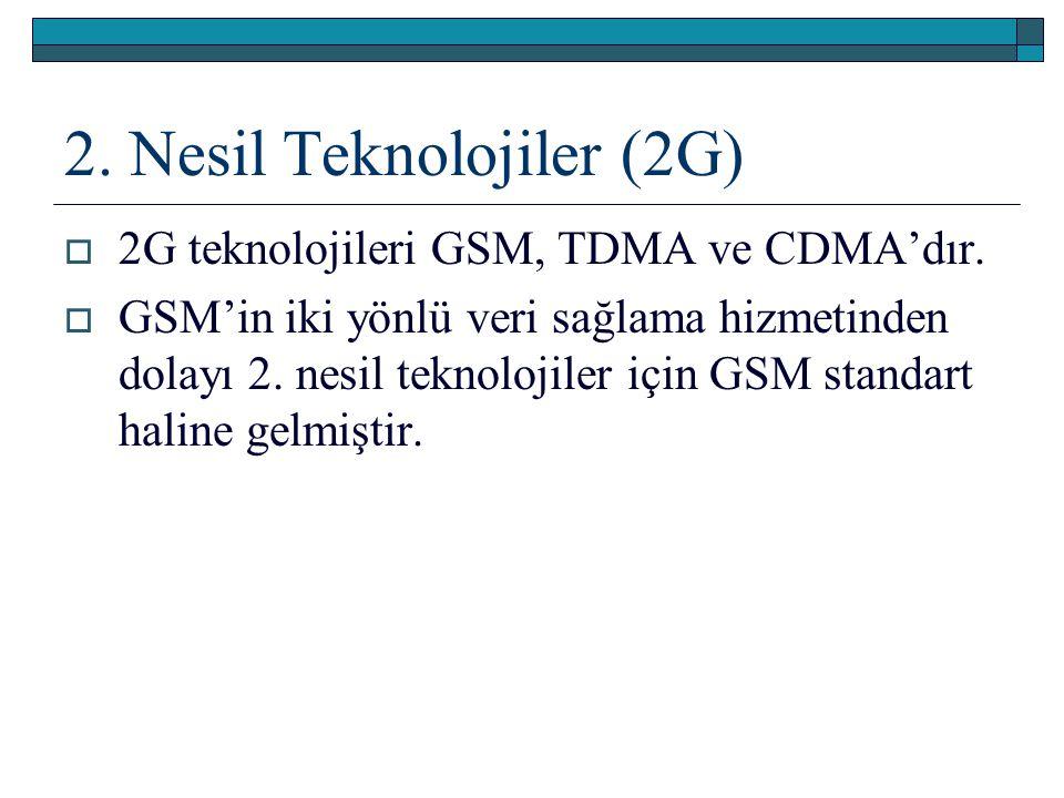 2. Nesil Teknolojiler (2G)