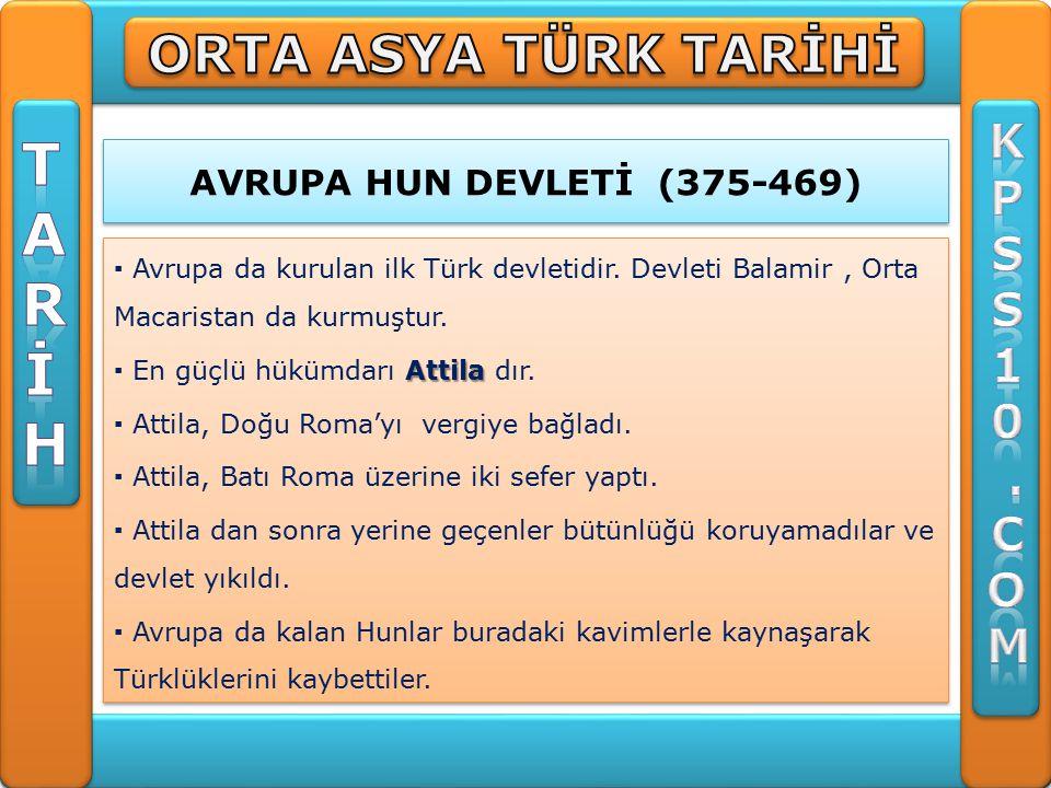 T A R İ H ORTA ASYA TÜRK TARİHİ K P S 1 . C O M
