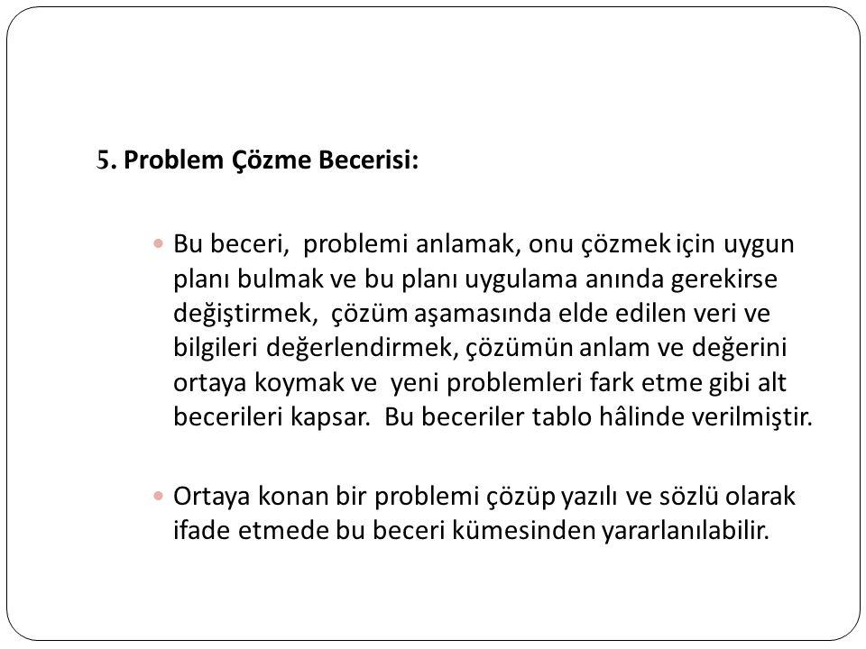 5. Problem Çözme Becerisi: