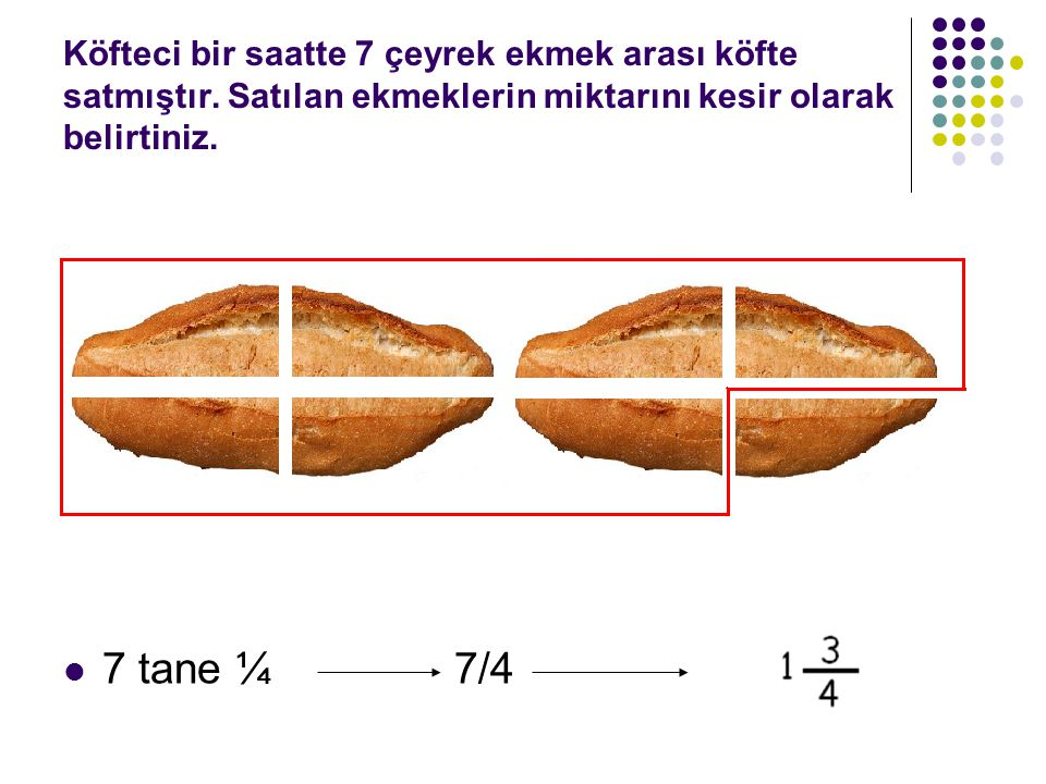 Köfteci bir saatte 7 çeyrek ekmek arası köfte satmıştır