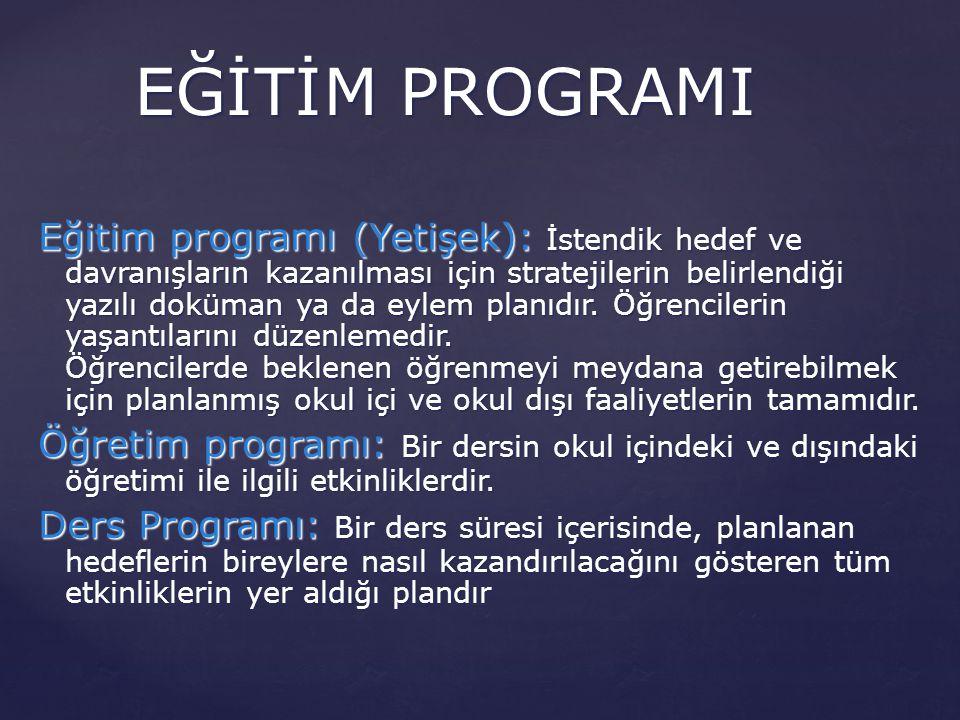 EĞİTİM PROGRAMI
