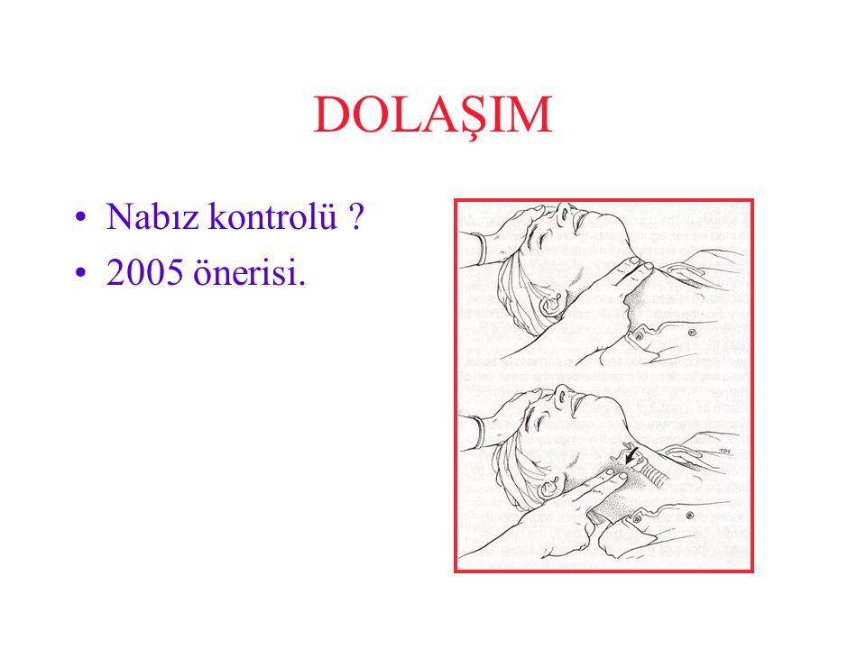 DOLAŞIM Nabız kontrolü 2005 önerisi.