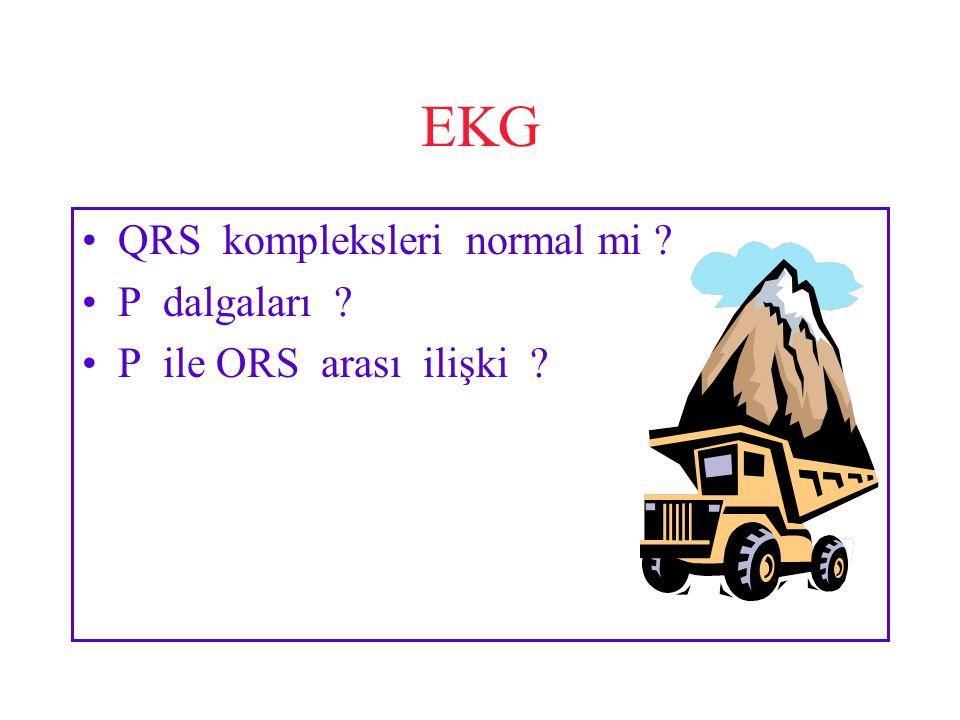 EKG QRS kompleksleri normal mi P dalgaları