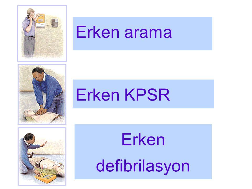 Erken arama Erken KPSR Erken defibrilasyon