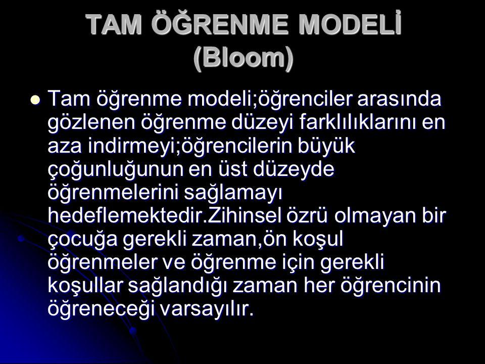 TAM ÖĞRENME MODELİ (Bloom)