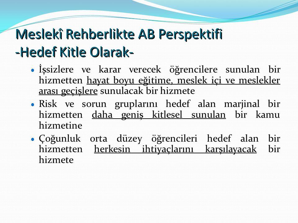 Meslekî Rehberlikte AB Perspektifi -Hedef Kitle Olarak-