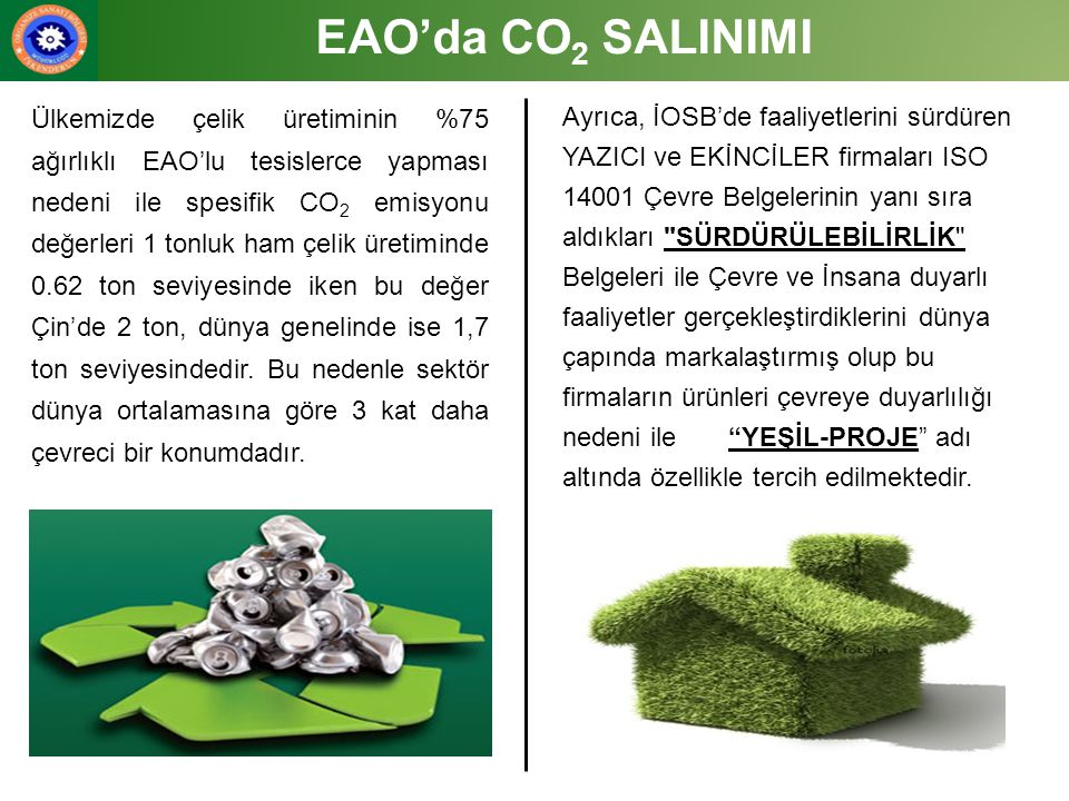 EAO'da CO2 SALINIMI