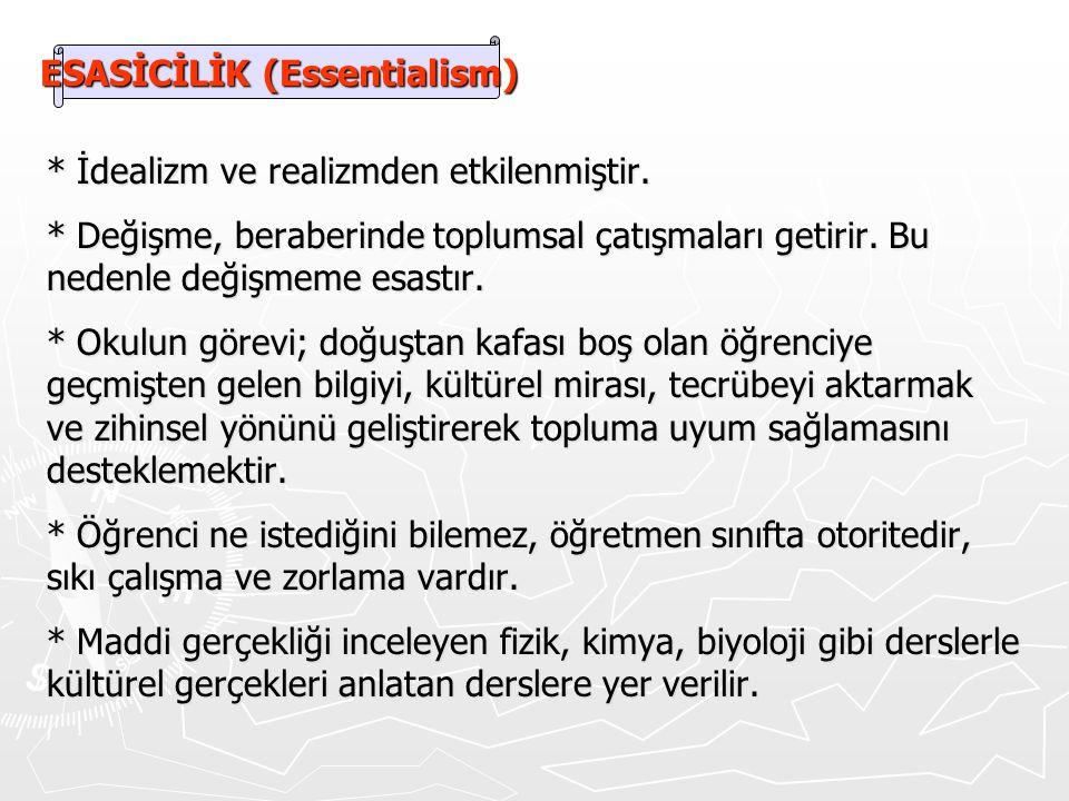 ESASİCİLİK (Essentialism)