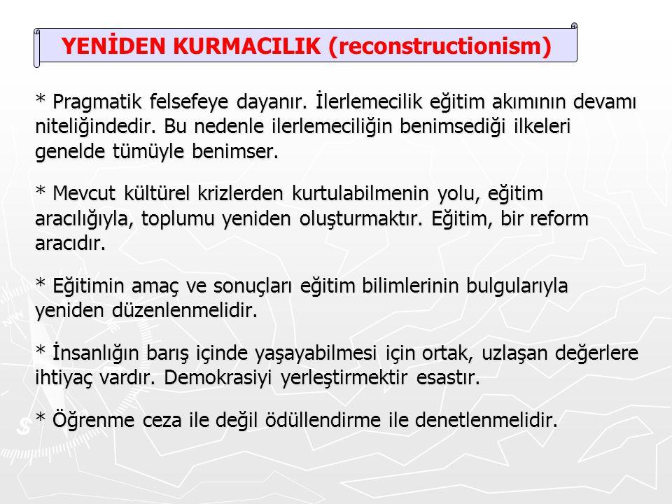 YENİDEN KURMACILIK (reconstructionism)