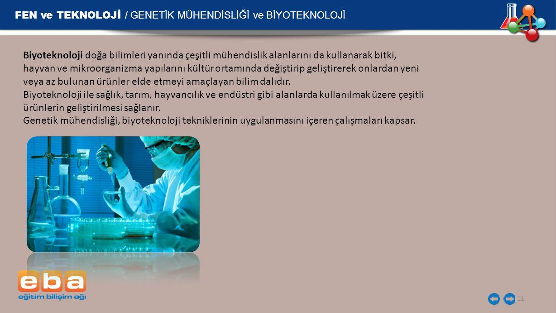 FEN ve TEKNOLOJİ / GENETİK MÜHENDİSLİĞİ ve BİYOTEKNOLOJİ