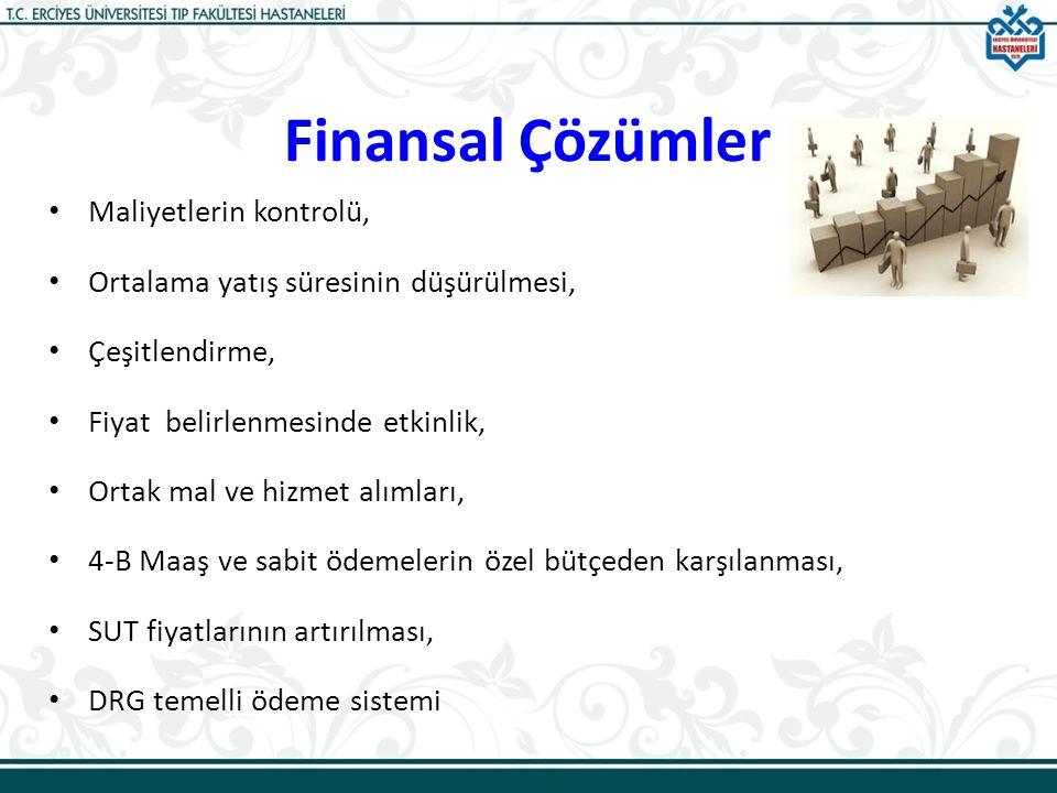 Finansal Çözümler Maliyetlerin kontrolü,