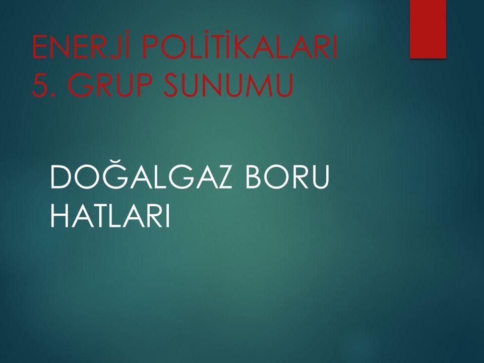 ENERJİ POLİTİKALARI 5. GRUP SUNUMU
