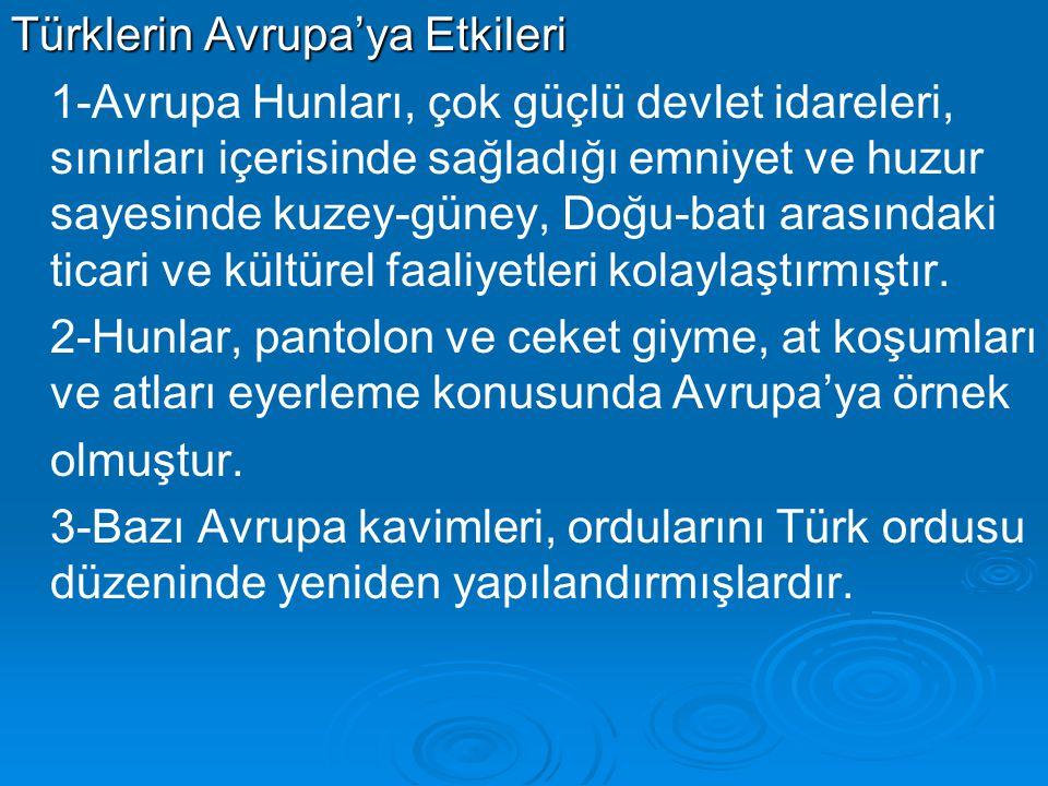 Türklerin Avrupa'ya Etkileri