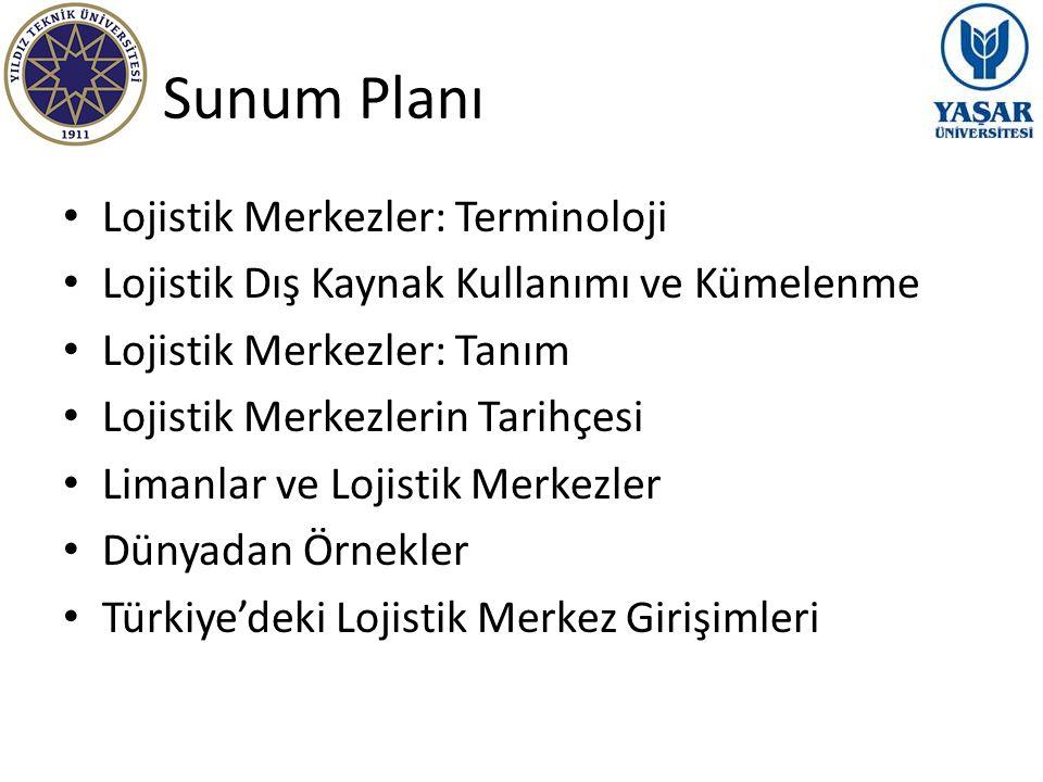 Sunum Planı Lojistik Merkezler: Terminoloji