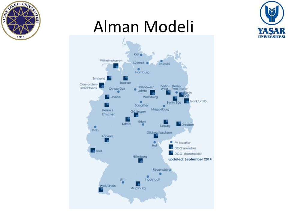 Alman Modeli -Network of freight villages