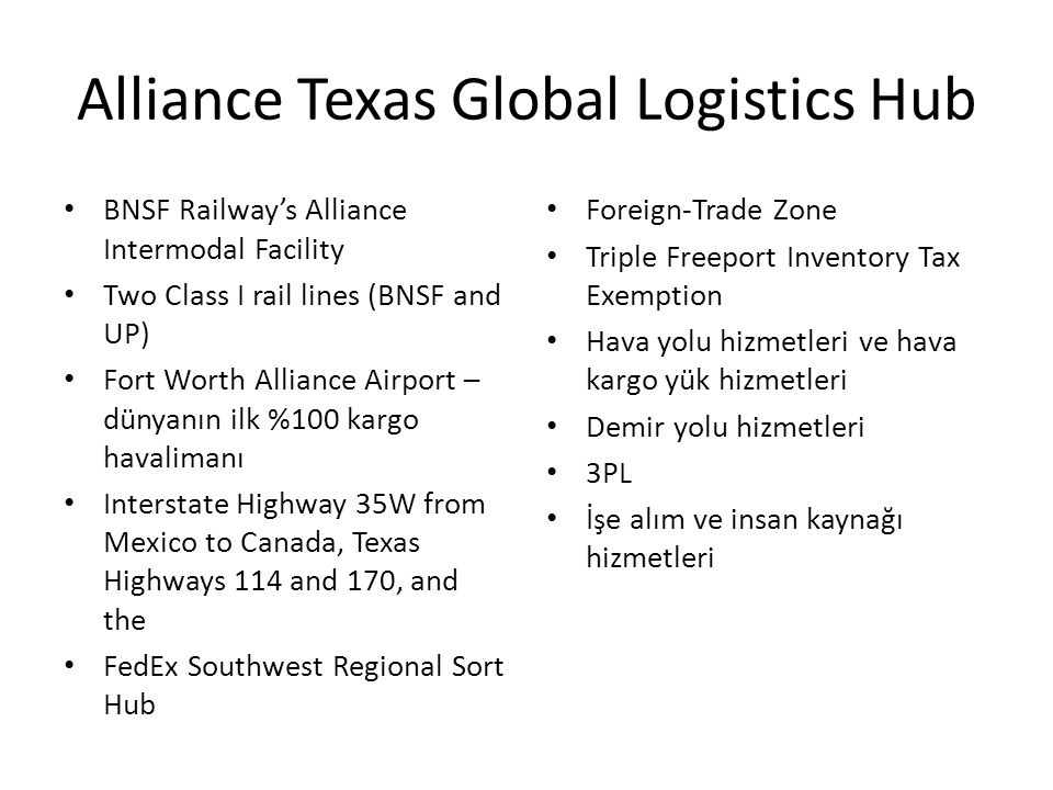 Alliance Texas Global Logistics Hub