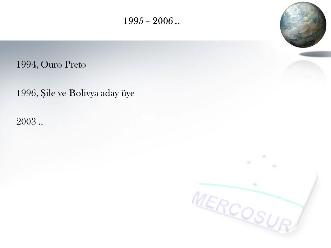 1995 – 2006 .. 1994, Ouro Preto 1996, Şile ve Bolivya aday üye 2003 ..