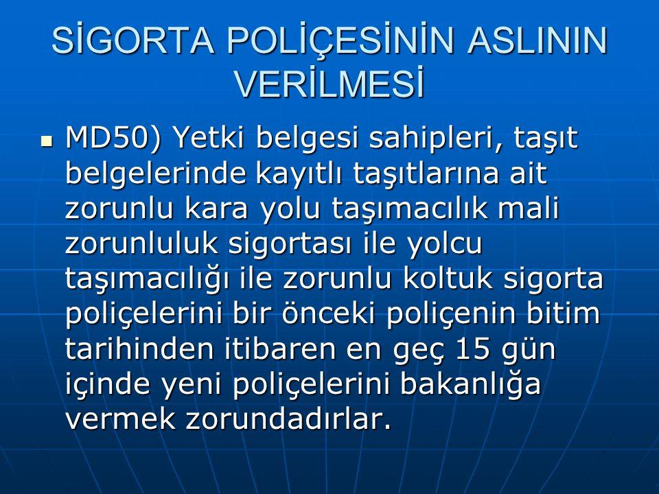 SİGORTA POLİÇESİNİN ASLININ VERİLMESİ
