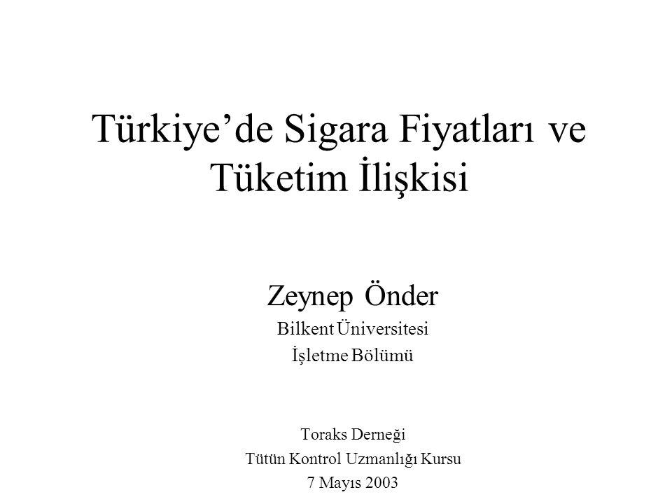 Türkiye'de Sigara Fiyatları ve Tüketim İlişkisi