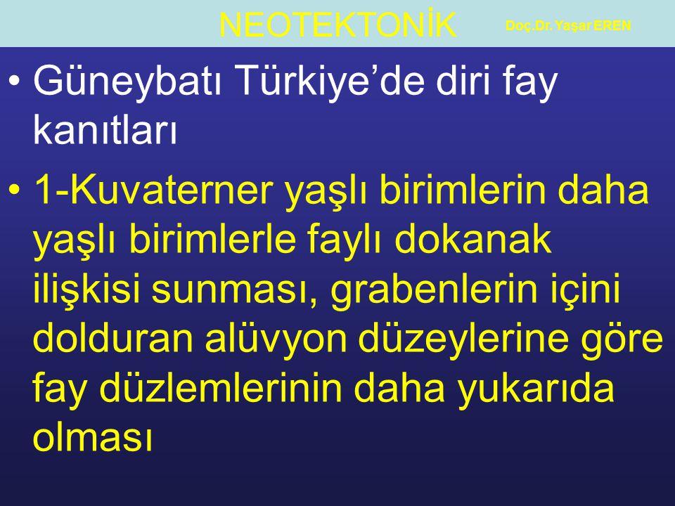 Güneybatı Türkiye'de diri fay kanıtları