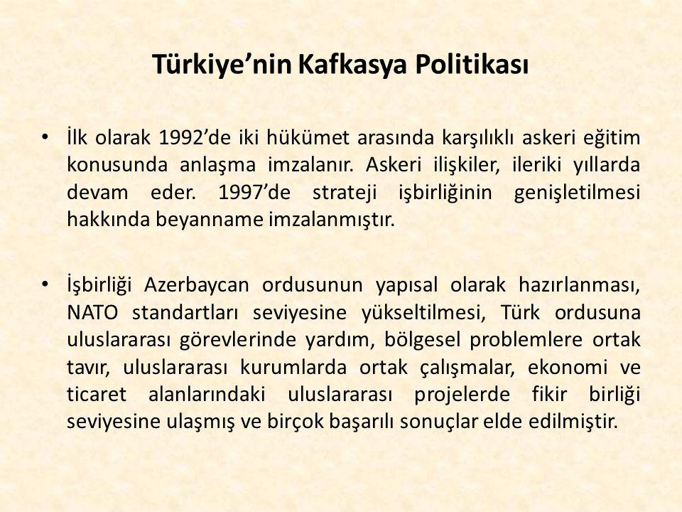 Türkiye'nin Kafkasya Politikası