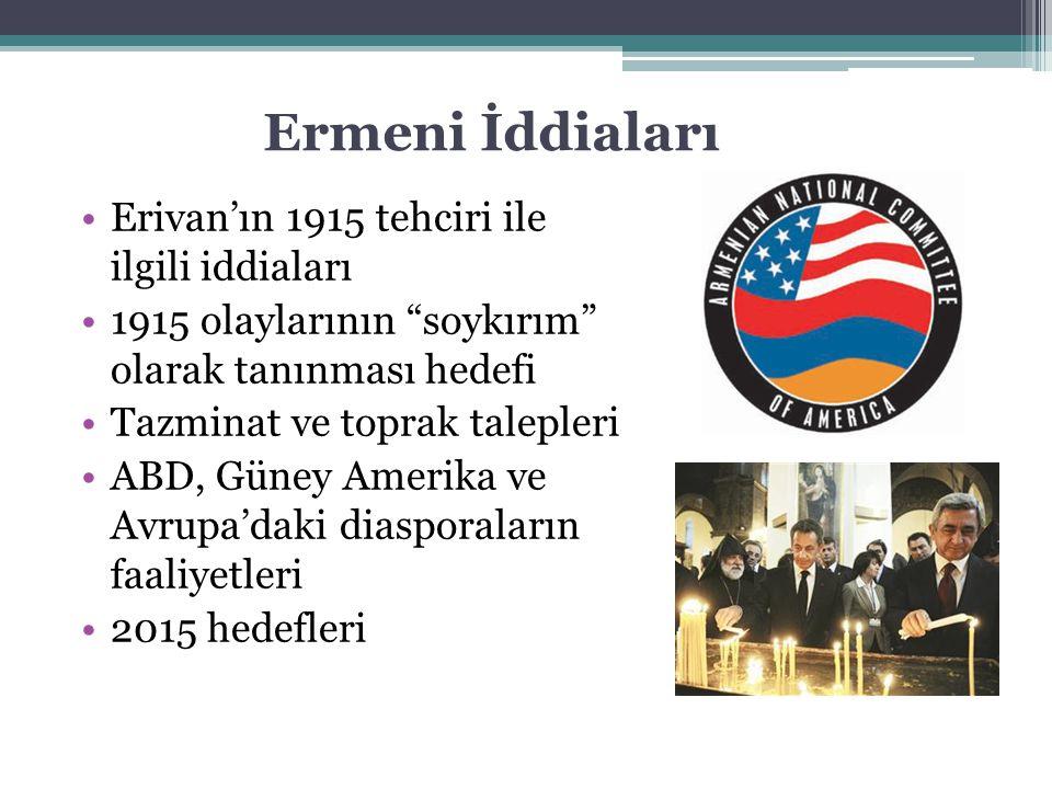 Ermeni İddiaları Erivan'ın 1915 tehciri ile ilgili iddiaları
