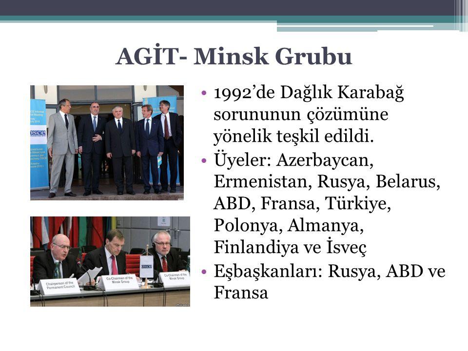 AGİT- Minsk Grubu 1992'de Dağlık Karabağ sorununun çözümüne yönelik teşkil edildi.