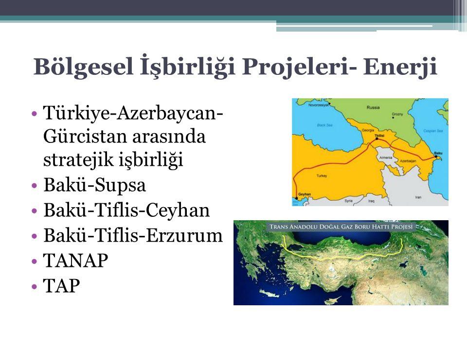Bölgesel İşbirliği Projeleri- Enerji