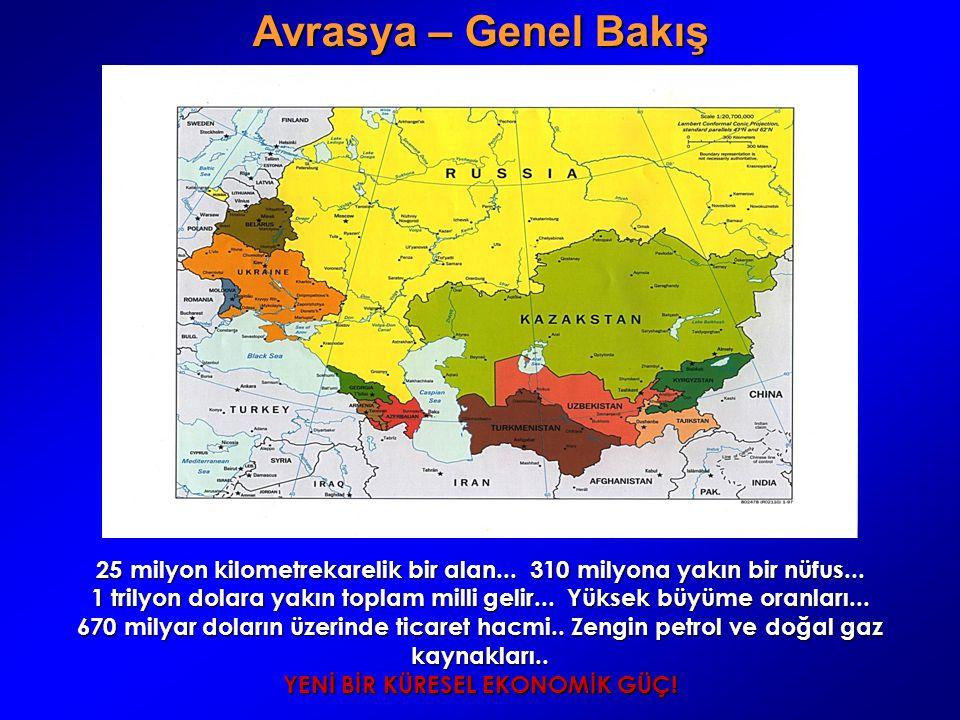 Avrasya – Genel Bakış 25 milyon kilometrekarelik bir alan... 310 milyona yakın bir nüfus...